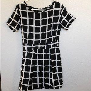 Checkered mini dress brand new
